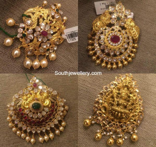 Antique Gold Pacchi Pendants photo
