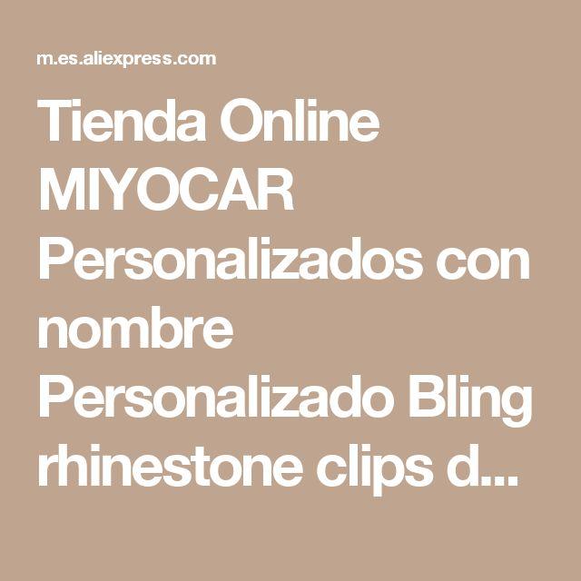 Tienda Online MIYOCAR Personalizados con nombre Personalizado Bling rhinestone clips de chupete/titular de chupete clip de Chupete/Mordedores clip para bebé   Aliexpress móvil