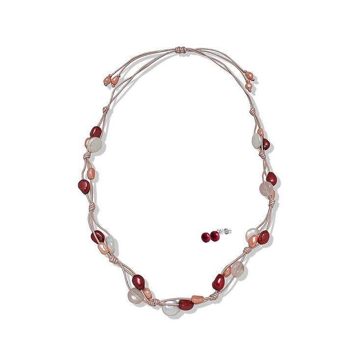 Set Valero Pearls și Sakura Pearl Salsa & Sangria (cercei, colier)