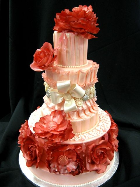 Haute Couture Wedding Cake  Country Girl Cakes