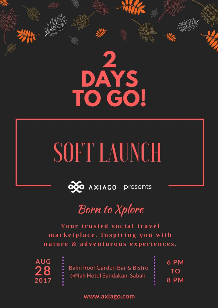 2 days to go! The countdown for Axiago soft launch has begun. #Axiago #nature #adventure #xplore #softlaunch #sabah #sandakan #nakhotel #balinrooftop