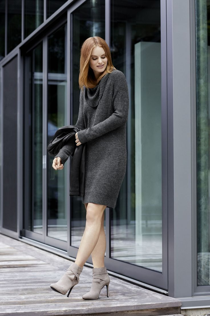 Our favourite sweater this fall is actually a dress.