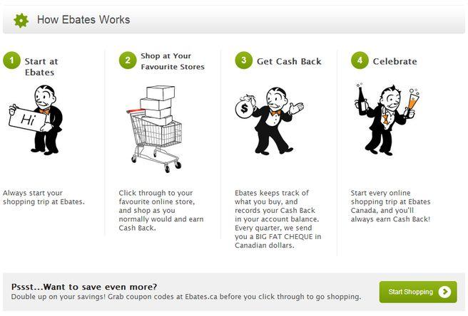 I highly recommended ebates cash back shopping website.