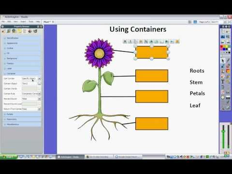 ActivInspire (How to make and use containers) - YouTube