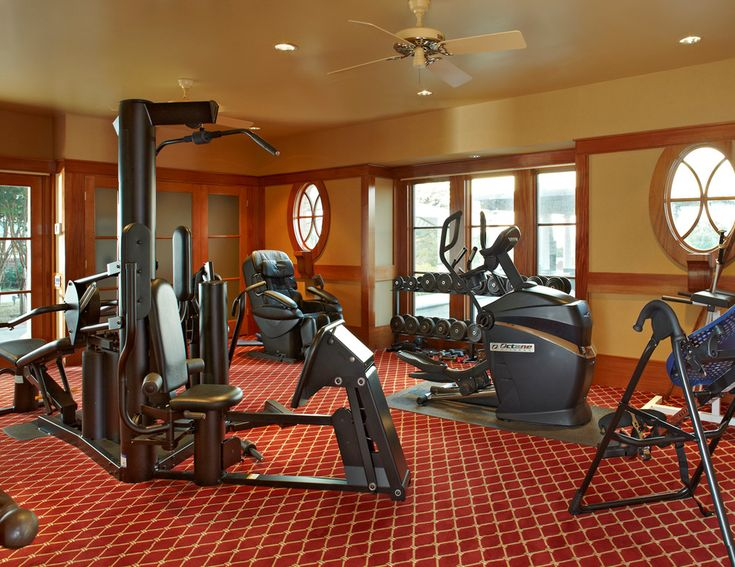 Marvelous massaging chair in Home Gym Traditional with Massage Therapy Room next to Flooring alongside Exercise Room and Best Home Gym Colors