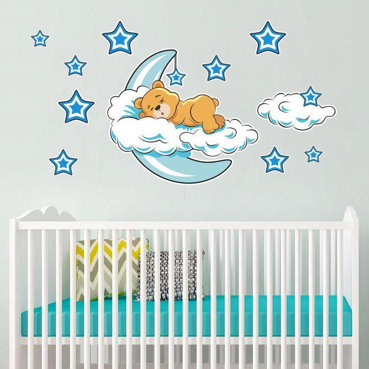 Ayıcık Bulutlar Ve Yıldızlar Duvar Sticker Fiyat: 74 TL