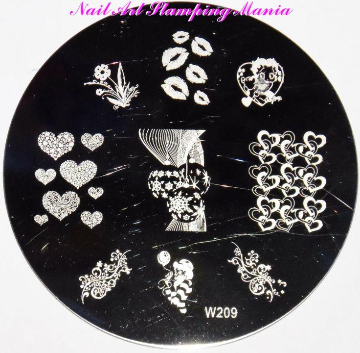 Nail Art Stamping Mania: W Stamping Plates Review  http://nailartstampingmania.blogspot.it/2014/02/w-stamping-plates-review.html