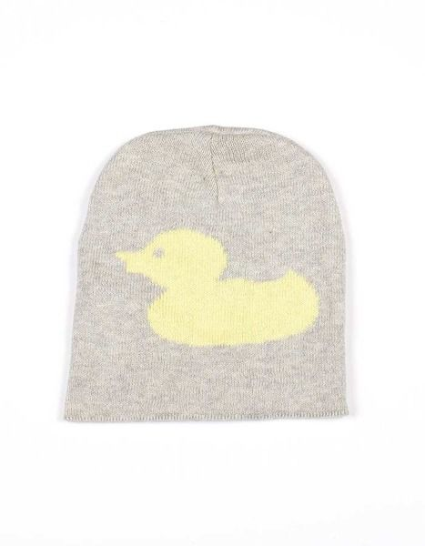 Indus Design Duck Baby Beanie Hat Yellow/Grey   Krinkle
