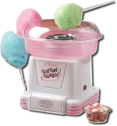 This machine makes cotton candy
