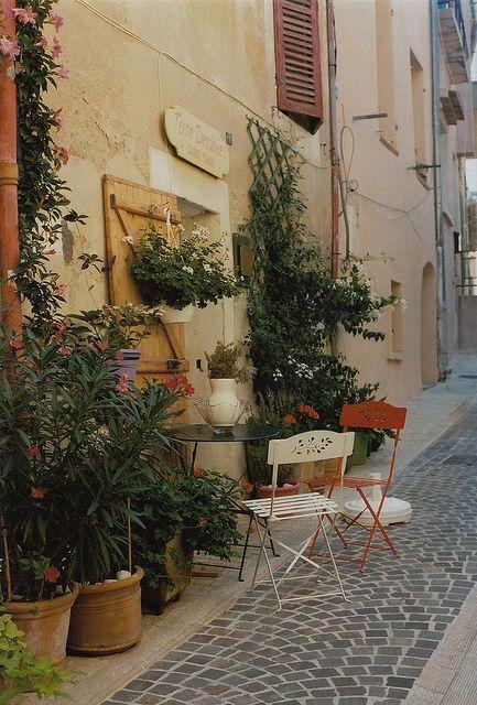 | ♕ | Backstreet cafe in Cassis | by © Petrana Sekula | via ysvoice