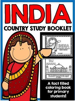 "This  26 Page ""All About India"" country study mini booklet project  is perfect your upcoming India unit, lesson, multicultural study, cultural fair, or country study. Full of information about India, this fun coloring book includes information about India written in engaging informational text that is perfect for the lower elementary grades."