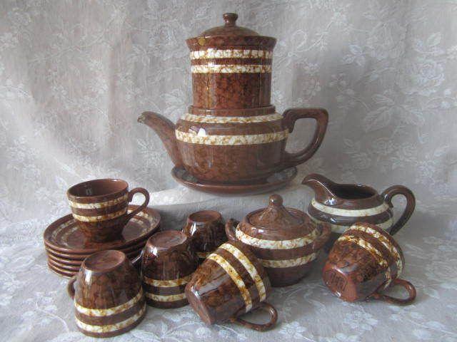 SERVICE à CAFE 1940 Fin Art Déco Digoin Sarreguemine MARY Old Vintage Coffee Set   Céramiques, verres, Céramiques françaises, Digoin   eBay!