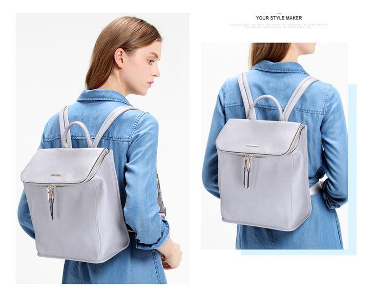 Pojemny damski plecak w nowoczesnym stylu. Skóra Naturalna. Nucelle. Sklep internetowy JakaTorebka.