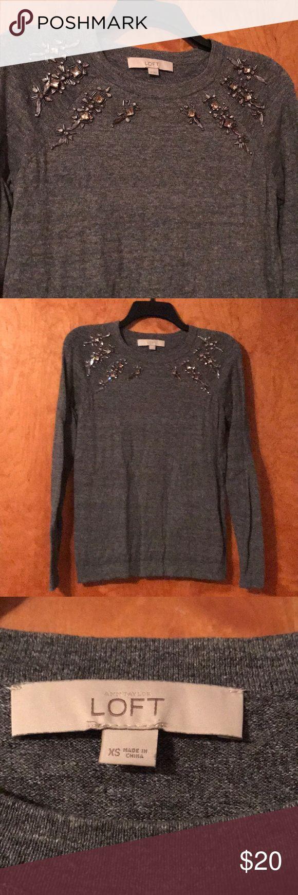 Charcoal gray Loft sweater