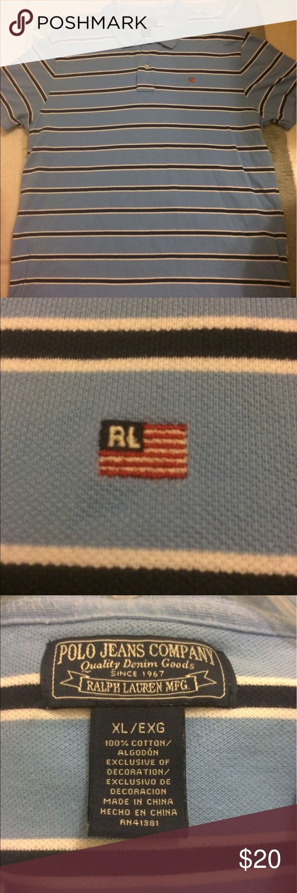 Ralph Lauren Polo Ralph Lauren Polo. Still in perfect condition with embroidered flag and RL logo on the left chest. Ralph Lauren Shirts Polos