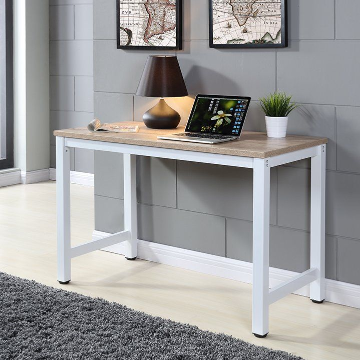 The Lailah desk from the manufacturer, Castleton Home, is an appealing and straightforward piece of furniture that distinguishes itself through its modern, minimalist design. Made of melamine-coated MDF, the Lailah desk features a sturdy, white frame with four legs which are held together at the sides by cross bars. The practical floor protectors perfectly round off this high-quality desk. The desk is fitted with a large workspace measuring 120 x 60cm and features a purposefully-discreet…