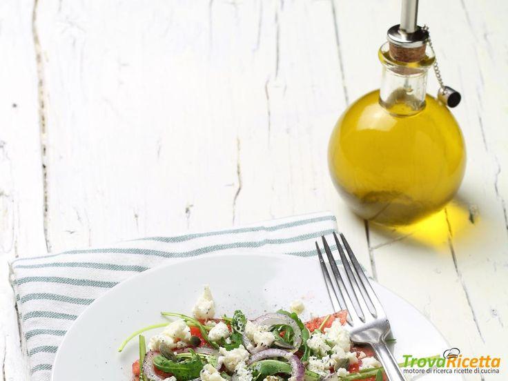 INSALATA DI ANGURIA E FETA  #ricette #food #recipes