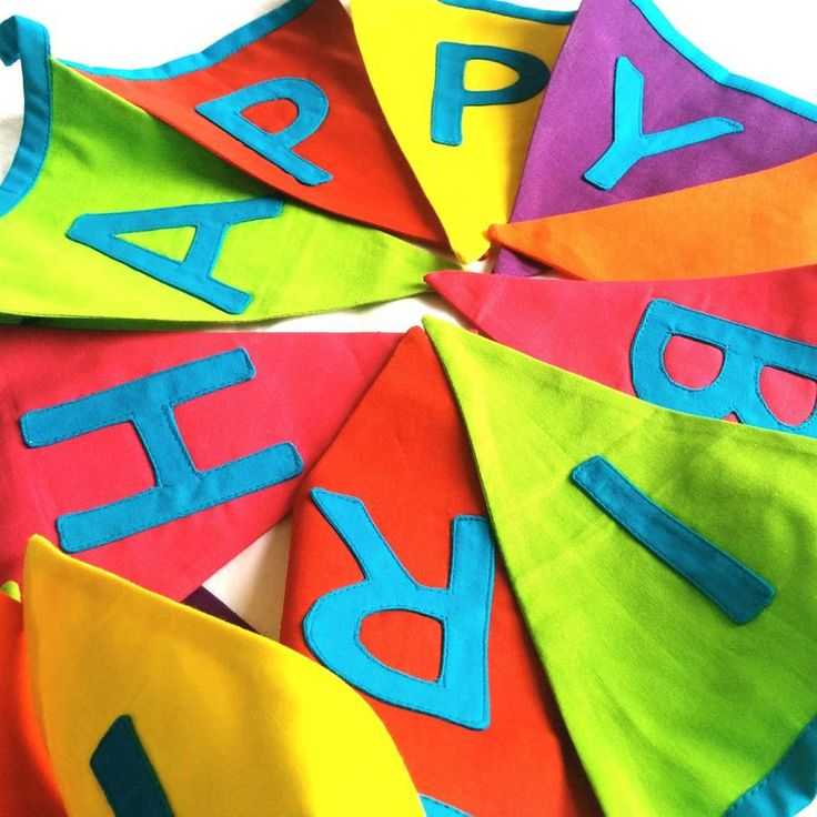 happy birthday bright bunting by the fairground | notonthehighstreet.com