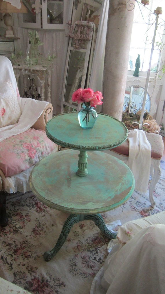 RESERVED Cheyanne Vintage Aqua Chippy By Vintagewhitecottage 13400 More Color Needed Mebut