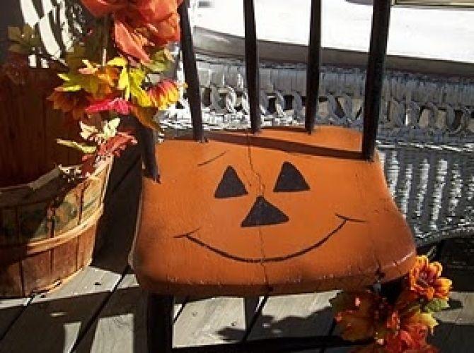 Pumpkin Chair So Sweet For Halloween
