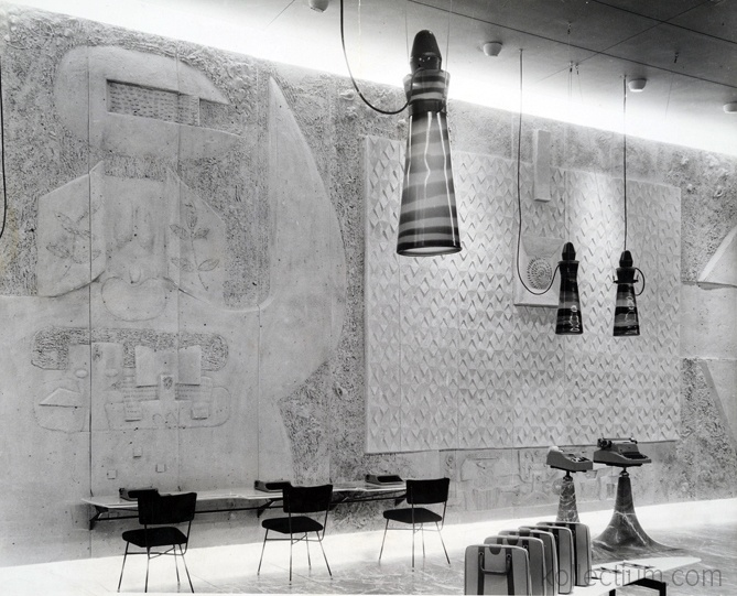New York, Olivetti corporation exposition room, 1954 - Namuth Hans, Archivio Domus