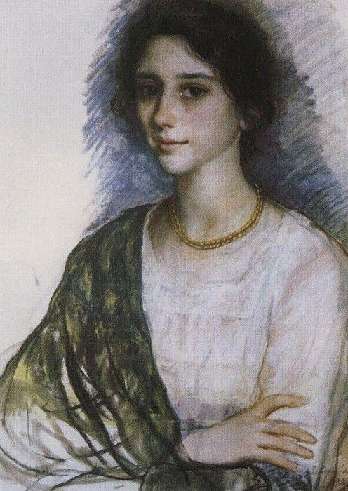 Женский портрет. Зинаида Евгеньевна Серебрякова. 1923