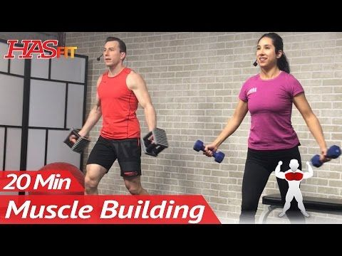 20 Min Muscle Building Dumbbell Chest Workout at Home for Women & Men Bodybuilding Workouts Routine - YouTube