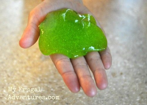 Children's Craft Idea: How to Make Green Slime!