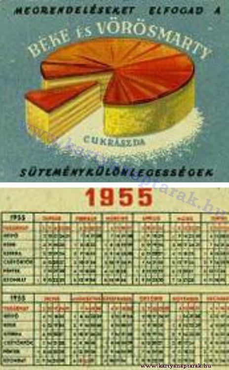 1955 - 1955_0022 - Régi magyar kártyanaptárak