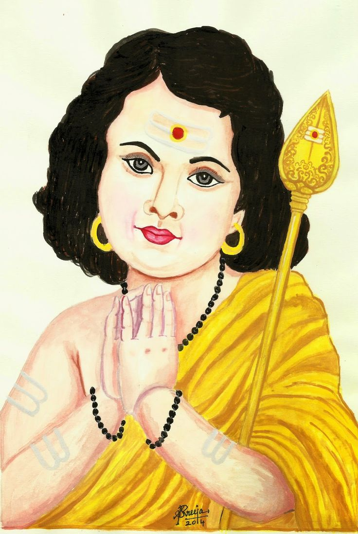 Lord Karthikey - Poster color painting by Sreeja Renganath