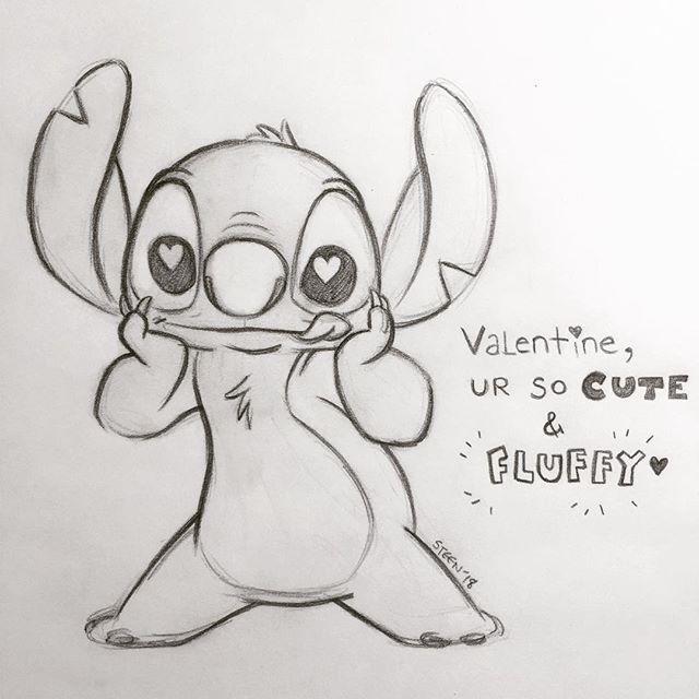 Schönen Valentinstag euch allen. . . #Stich #Disney #Zeichnen #Kunst