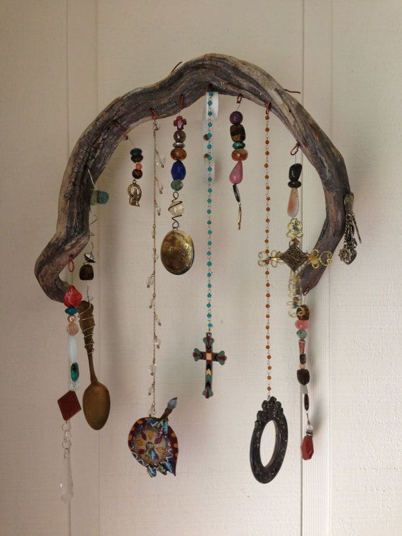Bohemian Driftwood Garden Art by RiverRatCrafts on Etsy, $30.00 Use coupon code REPIN to receive 15% off ANY non clearance item in my store.