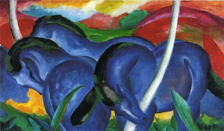 Franz Marc - The Large Blue Horses - 1911