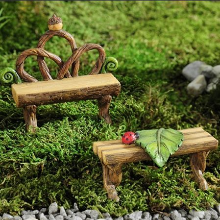 ENCHANTED FOREST LOG BENCH SET - This adorable set is simple perfection. Your…