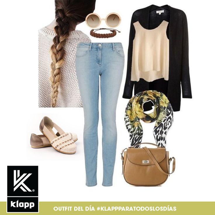 El negro y el marrón son una buena combinación para cualquier ocasión. #amomisklapp #outfitdeldia #meencantalamoda