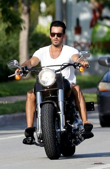 Aaron Diaz Photos: Aaron Diaz Takes His Motorcycle for a Spin