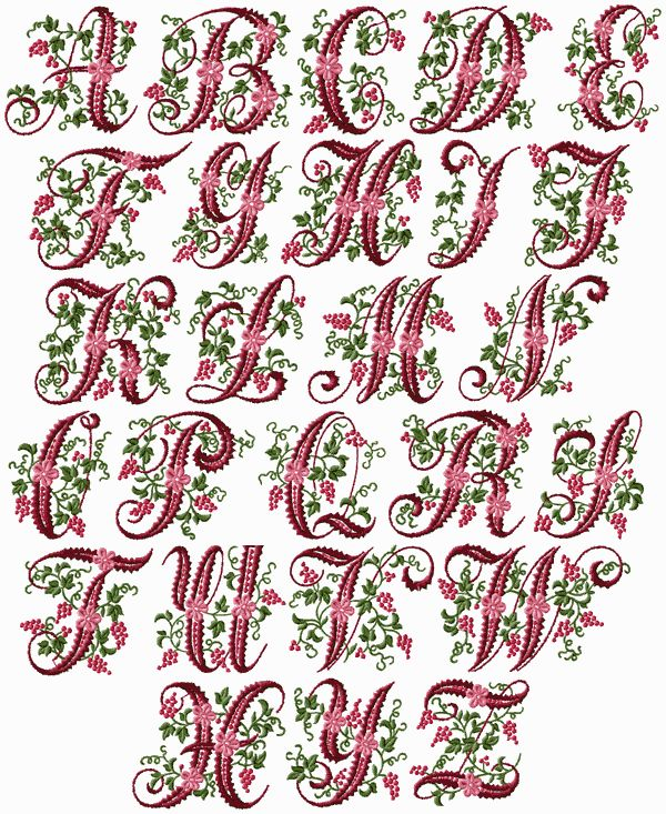alphabet letters to sew with your embroidery machine | Curly Berries Font Machine Embroidery Designs 4x4 Hoop | eBay