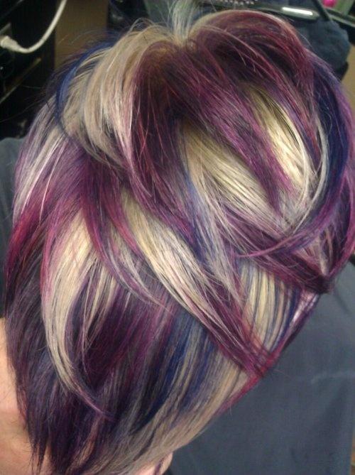 Magnificent 1000 Ideas About Purple Blonde Hair On Pinterest Verena Short Hairstyles Gunalazisus