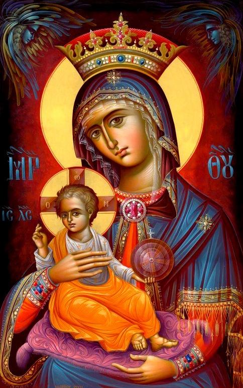 """Our Lady of the Blessed Sacrament"" via http://pinterest.com/norishlp/byzantine/"