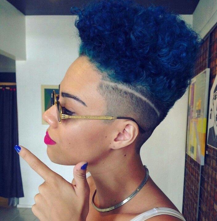 Fly Blue Hair Tapered High Top Natural Haircut Natural Inspiration Pinterest Cheveux