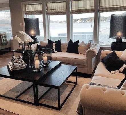 29 Super Ideas Apartment Color Schemes Black Coffee Tables