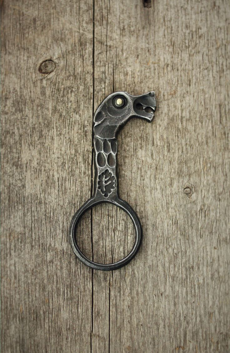 My Version Of A Viking Longship Dragon Head In The Form Of A Key Ring