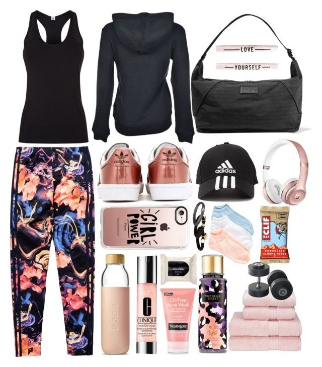 Love yourself by pulseofthematter on Polyvore featuring polyvore fashion style adidas adidas Originals Casetify Marc Jacobs Victoria's Secret Clinique Neutrogena H&M Soma clothing