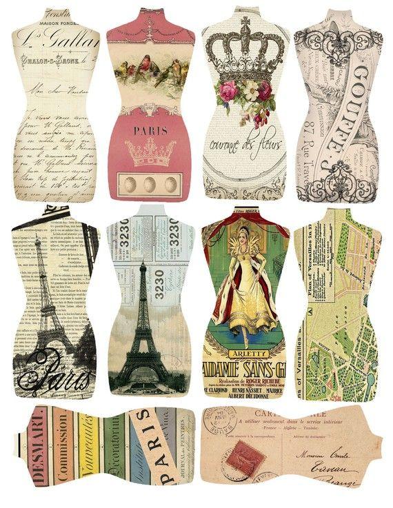 Dress Form Tags- Fun Labels!! etiquetas maniqui