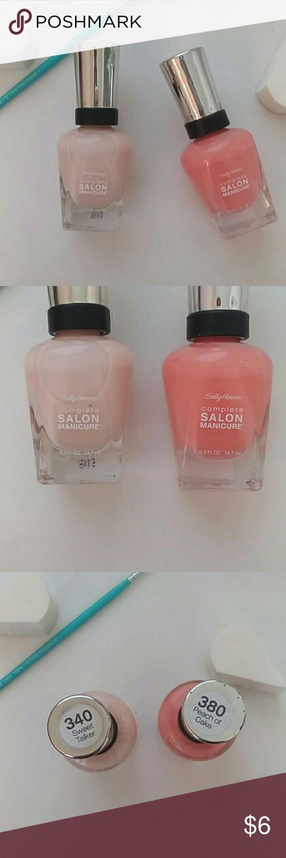 2 NAIL POLISH Salon Manicure brand, PEACH OF CAKE, a Light creamy orange, & SWEET TALKER, very pale pink, great for French Tips! Only used light Pink twice, Great condition! Salon Manicure Makeup