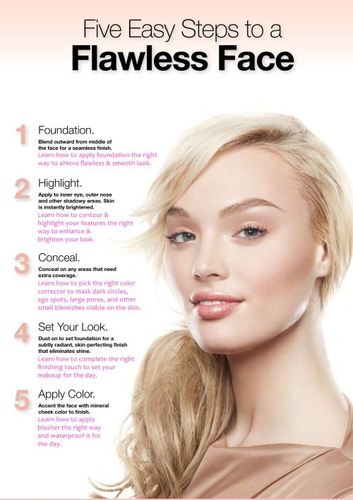 5 Easy Steps To Flawless Face Makeup Tips And Tutorials