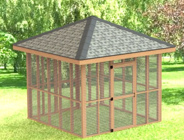10 X 10 Screened In Gazebo Downloadable Building Plans 001 Screened Gazebo Shed Building Plans Building A Shed