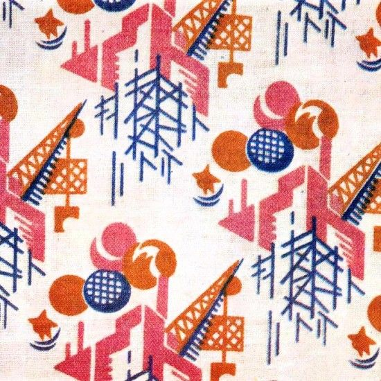 Russian Textile Patterns from the 1920's and 1930's