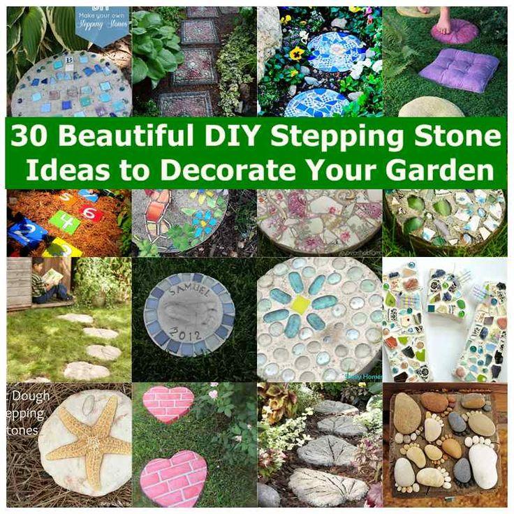 25 Lovely Diy Garden Pathway Ideas: 25+ Beautiful Garden Stepping Stones Ideas On Pinterest