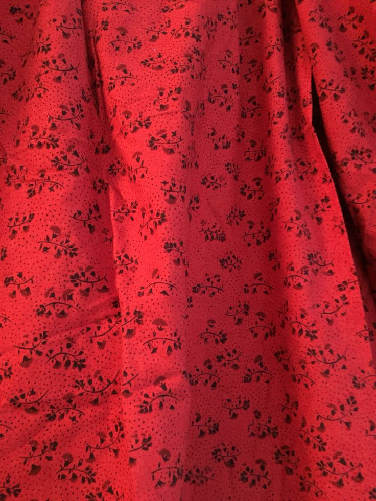 Marimekko fabric panel mod floral red Tuhkimo cotton textile craft supply maija isola fabric pillow covers curtains room decor by goodluxe on Etsy